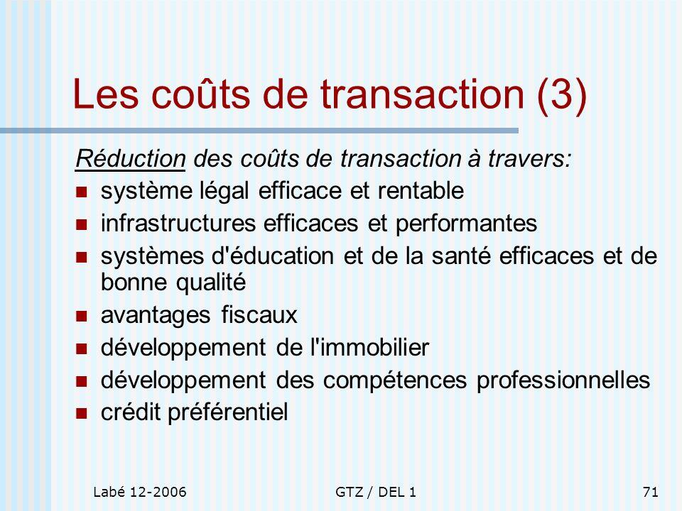 Les coûts de transaction (3)