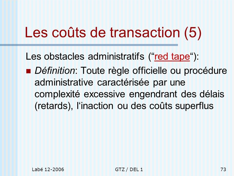 Les coûts de transaction (5)