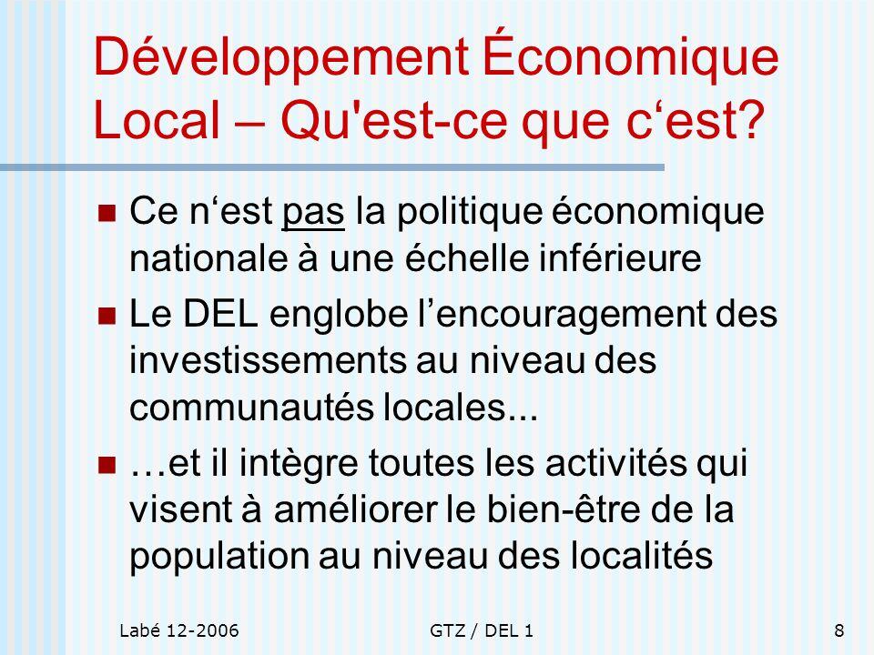 Développement Économique Local – Qu est-ce que c'est