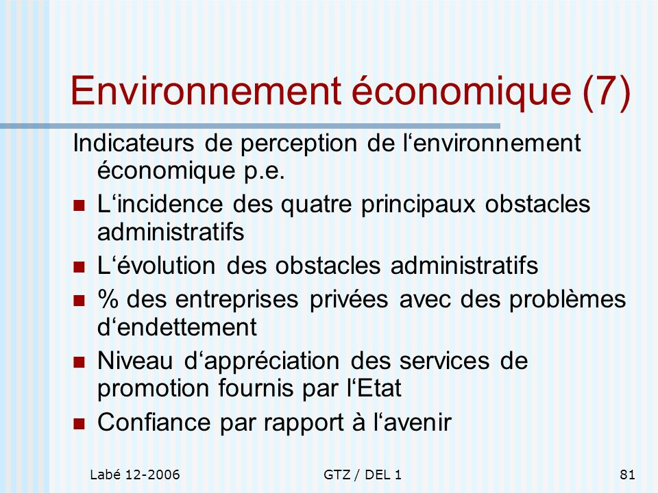 Environnement économique (7)