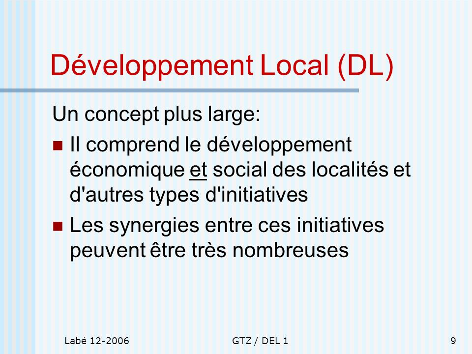 Développement Local (DL)