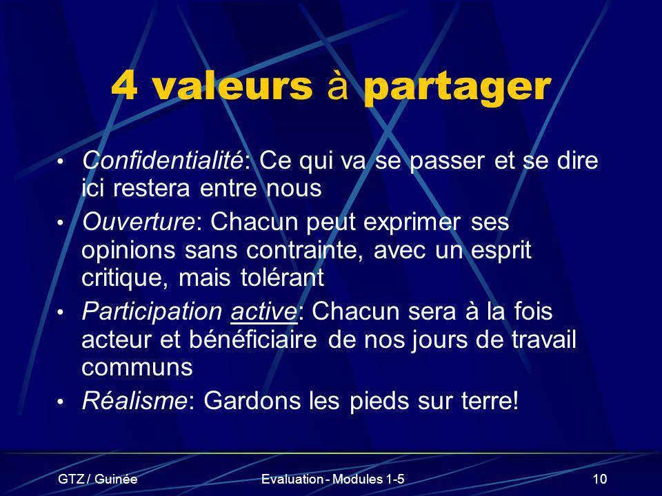 4 valeurs à partager Confidentialité: Ce qui va se passer et se dire ici restera entre nous.