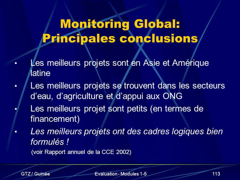 Monitoring Global: Principales conclusions