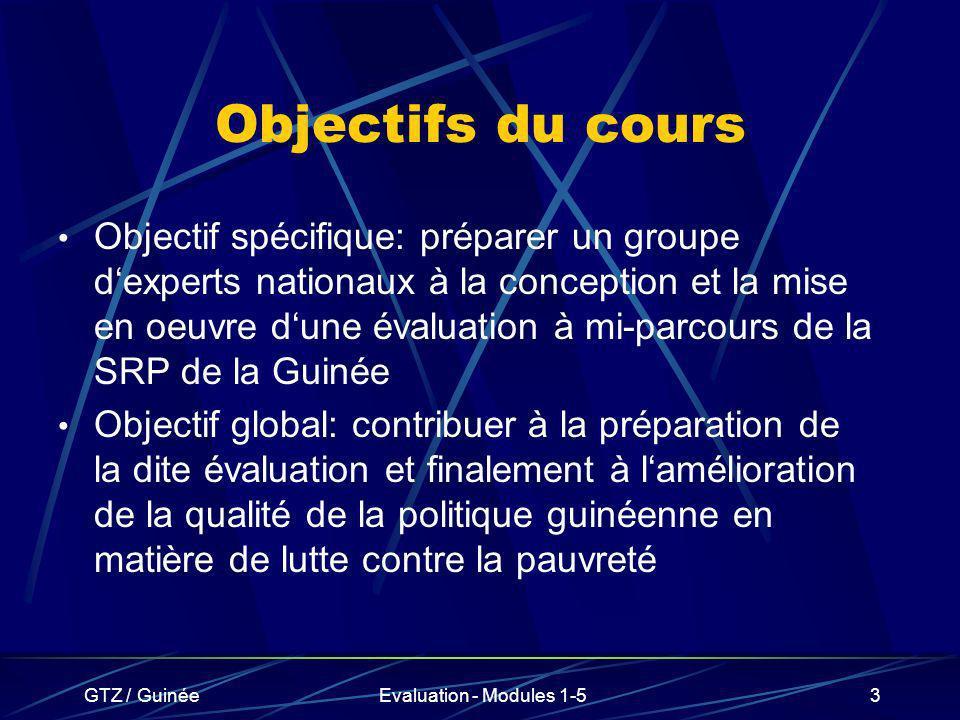 Objectifs du cours