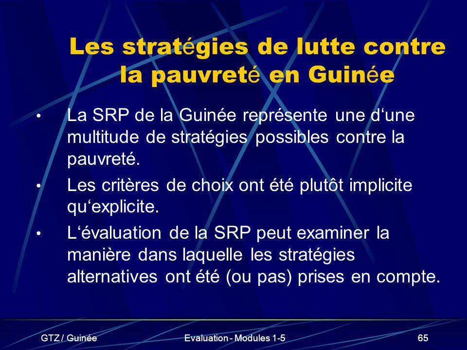 Les stratégies de lutte contre la pauvreté en Guinée