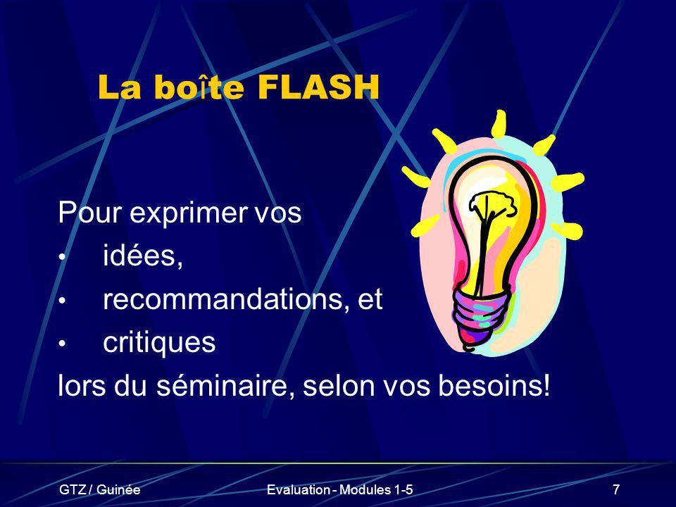 La boîte FLASH Pour exprimer vos idées, recommandations, et critiques