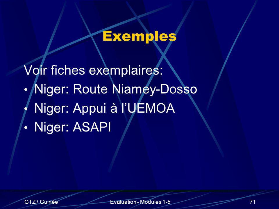 Exemples Voir fiches exemplaires: Niger: Route Niamey-Dosso