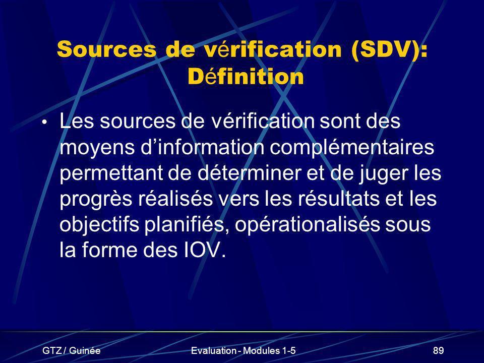 Sources de vérification (SDV): Définition