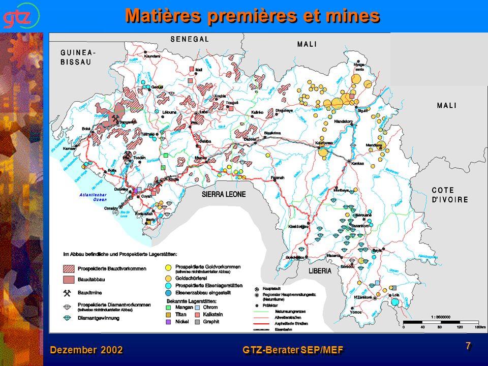 Matières premières et mines