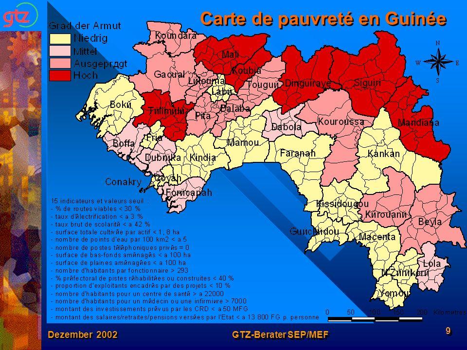 Carte de pauvreté en Guinée