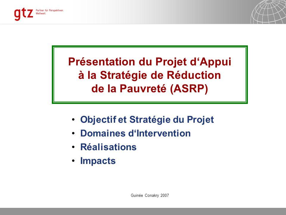 Présentation du Projet d'Appui à la Stratégie de Réduction de la Pauvreté (ASRP)