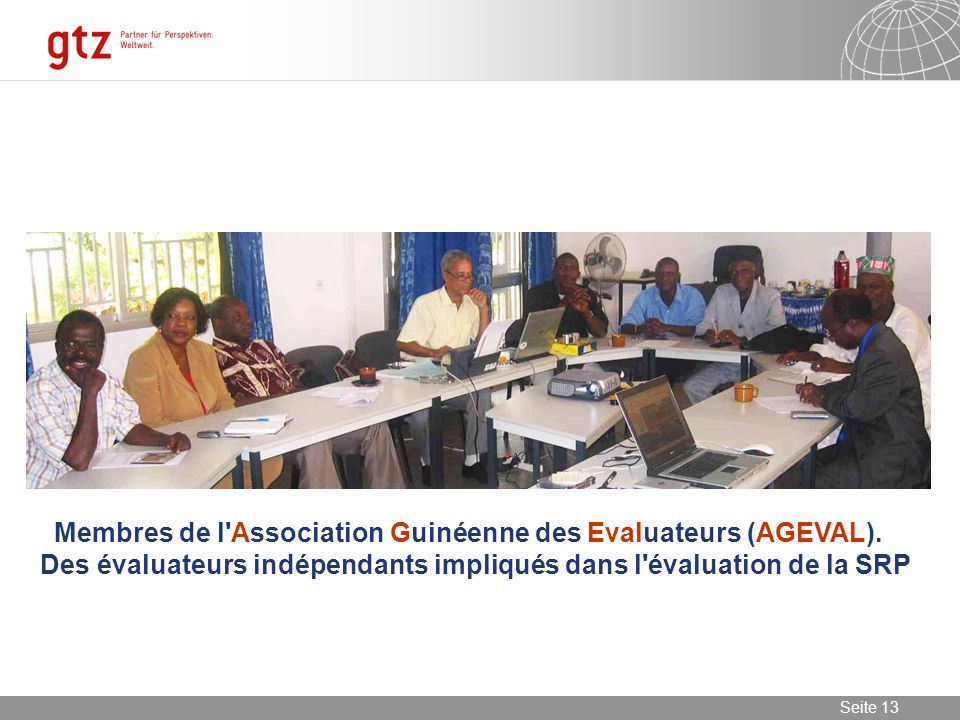 Membres de l Association Guinéenne des Evaluateurs (AGEVAL)