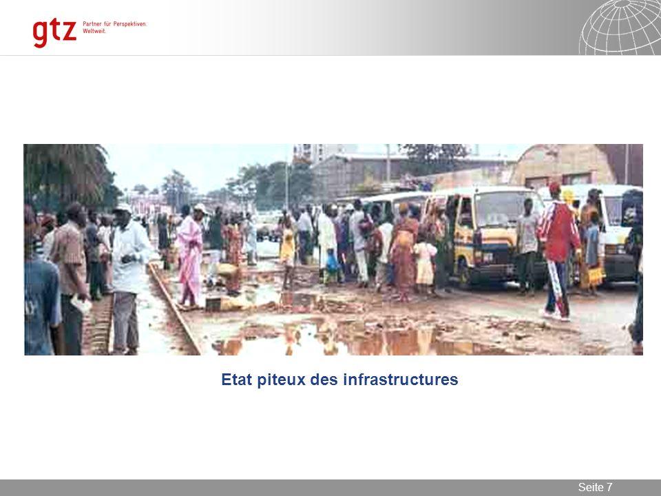 Etat piteux des infrastructures