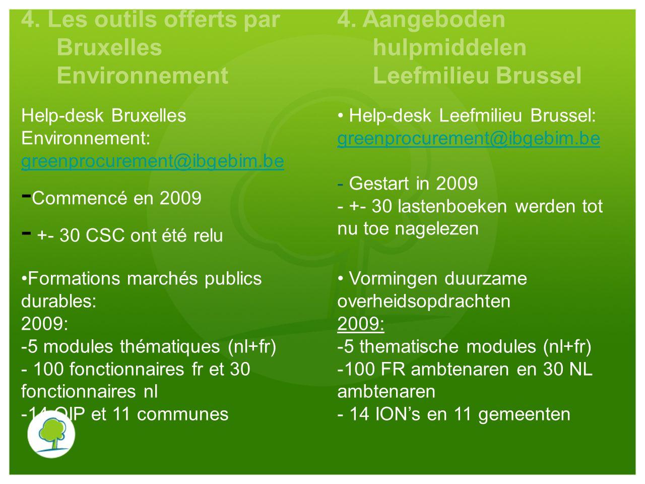 4. Les outils offerts par Bruxelles Environnement