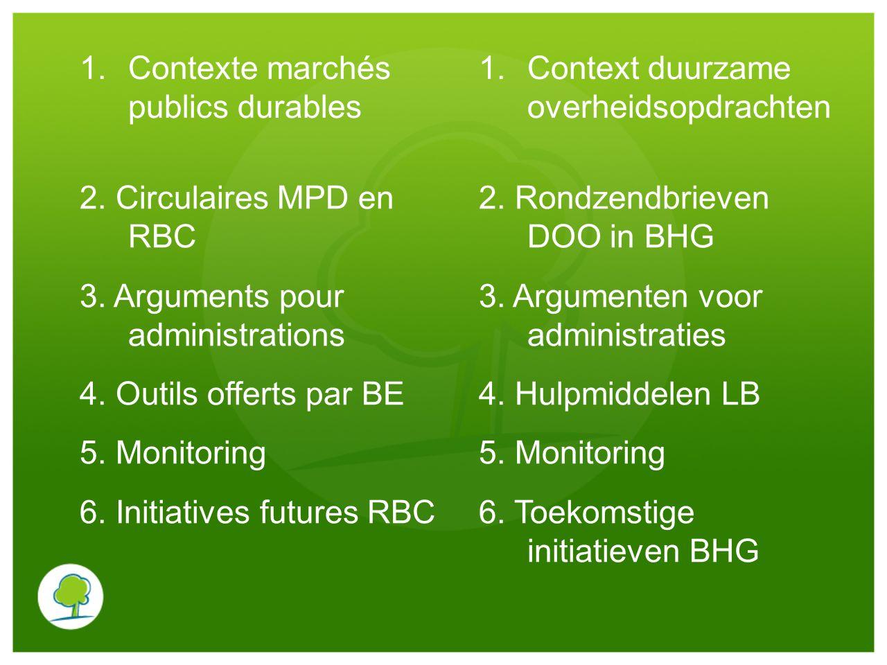 Contexte marchés publics durables