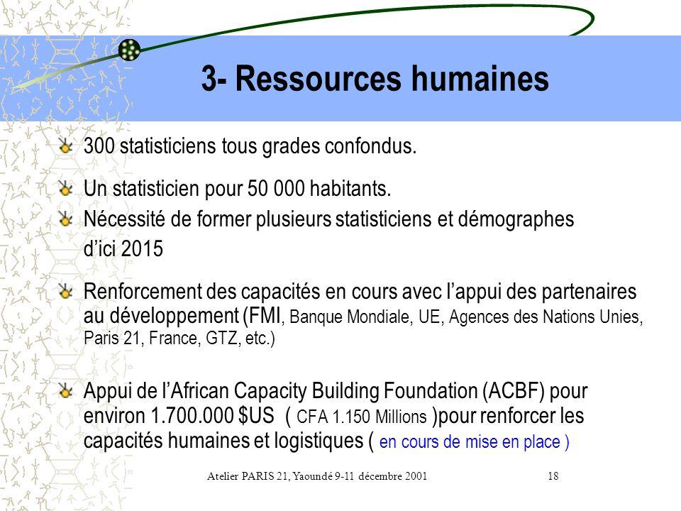 Atelier PARIS 21, Yaoundé 9-11 décembre 2001 18