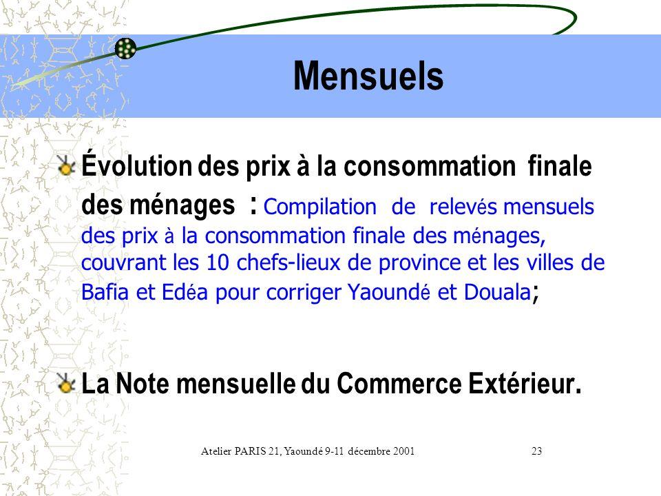 Atelier PARIS 21, Yaoundé 9-11 décembre 2001 23