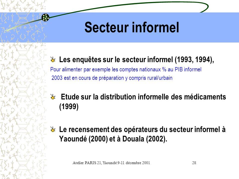 Atelier PARIS 21, Yaoundé 9-11 décembre 2001 28