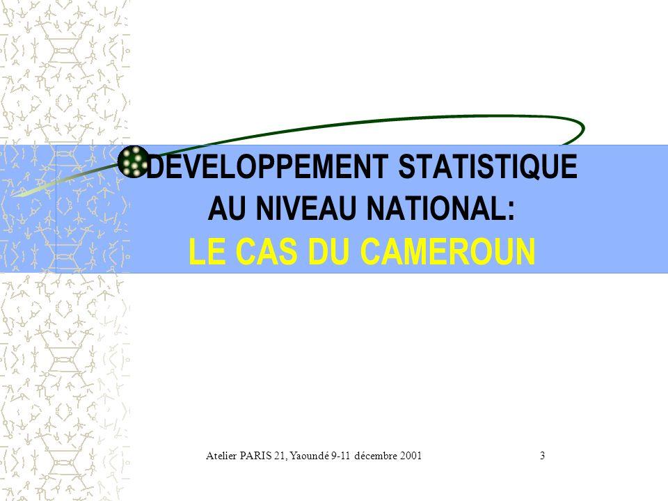 DEVELOPPEMENT STATISTIQUE AU NIVEAU NATIONAL: LE CAS DU CAMEROUN