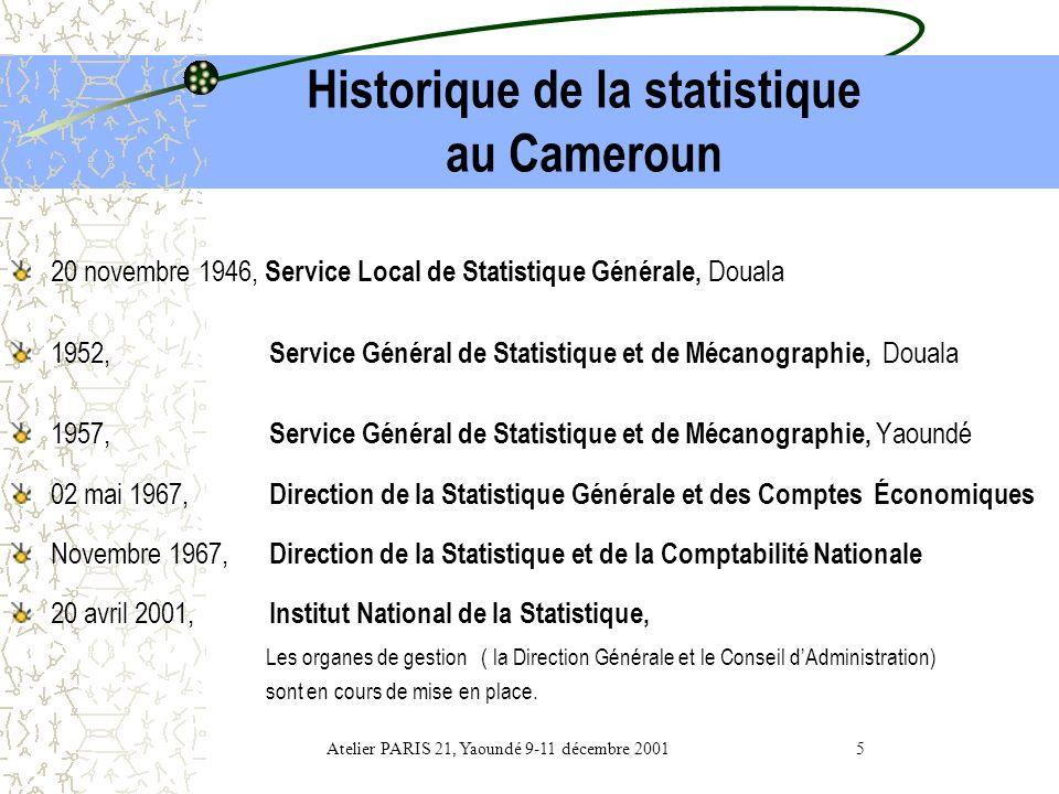 Historique de la statistique au Cameroun
