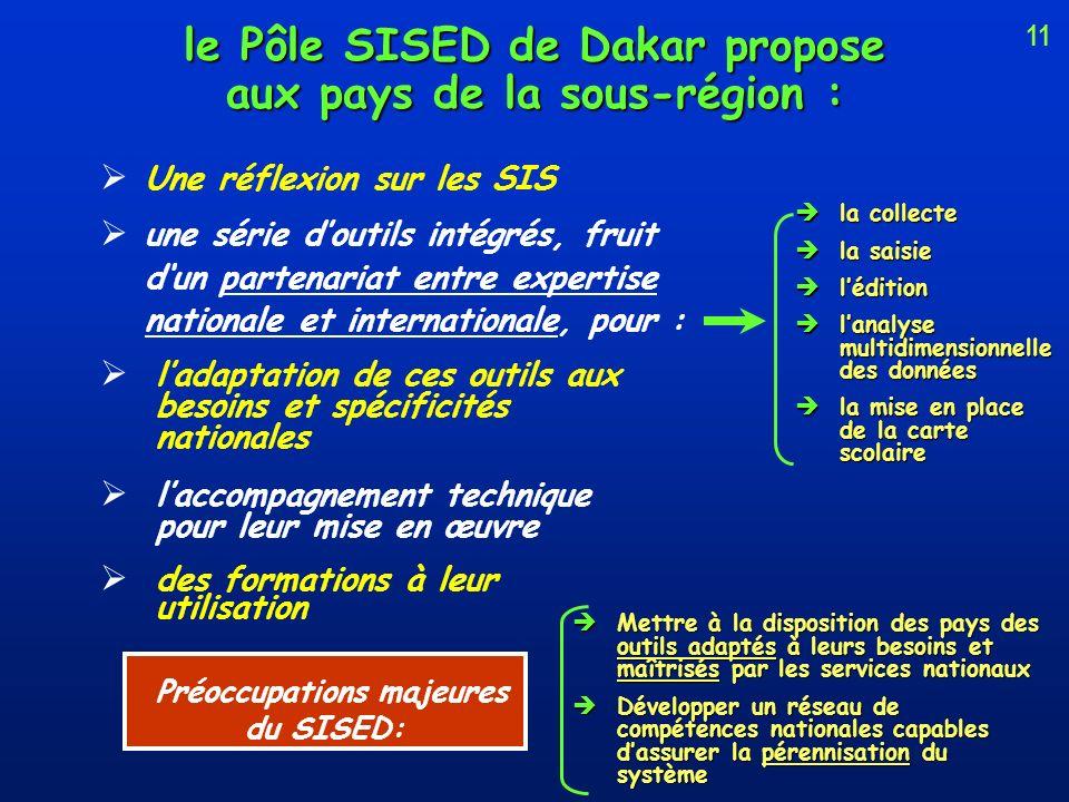 le Pôle SISED de Dakar propose aux pays de la sous-région :