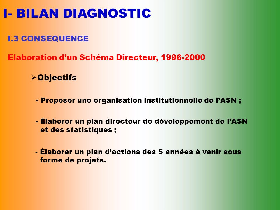 I- BILAN DIAGNOSTIC I.3 CONSEQUENCE