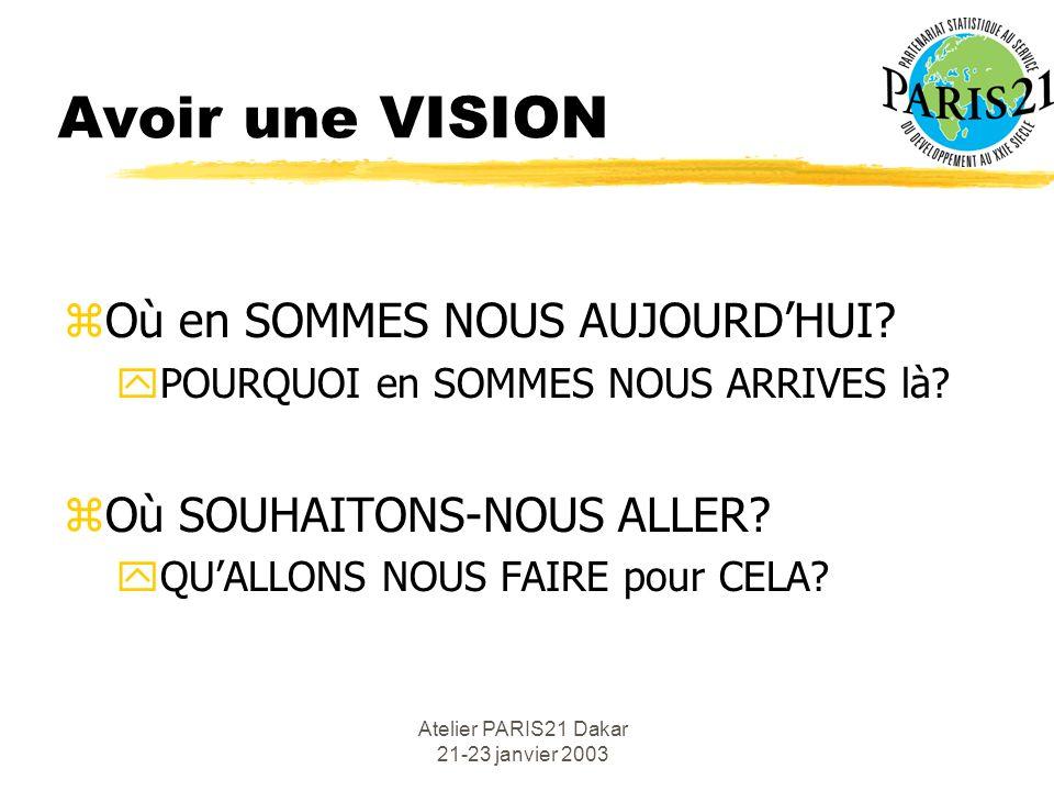 Atelier PARIS21 Dakar 21-23 janvier 2003