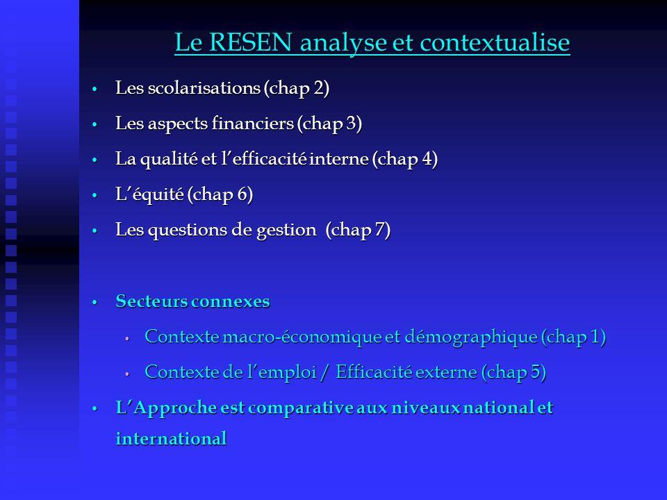 Le RESEN analyse et contextualise