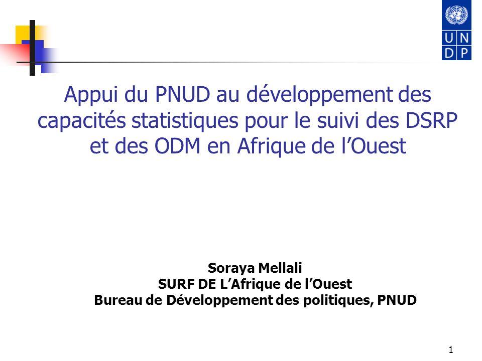 Appui du PNUD au développement des capacités statistiques pour le suivi des DSRP et des ODM en Afrique de l'Ouest