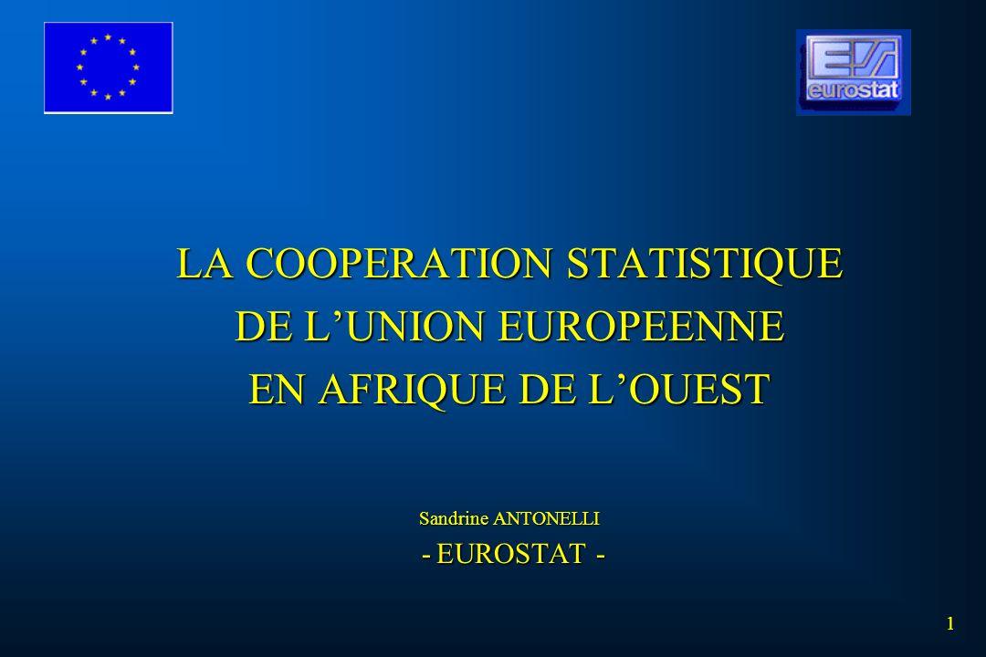 LA COOPERATION STATISTIQUE DE L'UNION EUROPEENNE EN AFRIQUE DE L'OUEST Sandrine ANTONELLI - EUROSTAT -