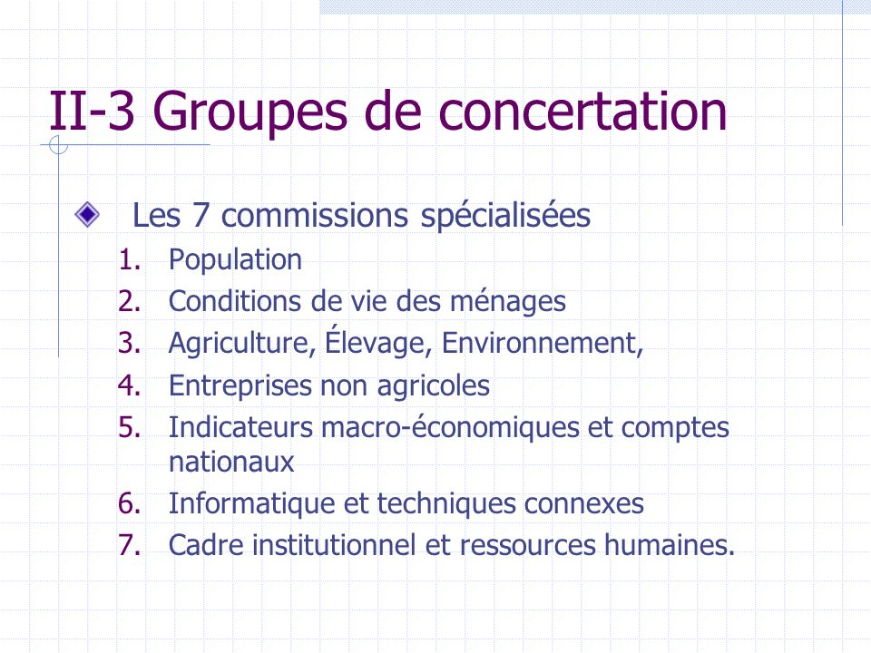 II-3 Groupes de concertation
