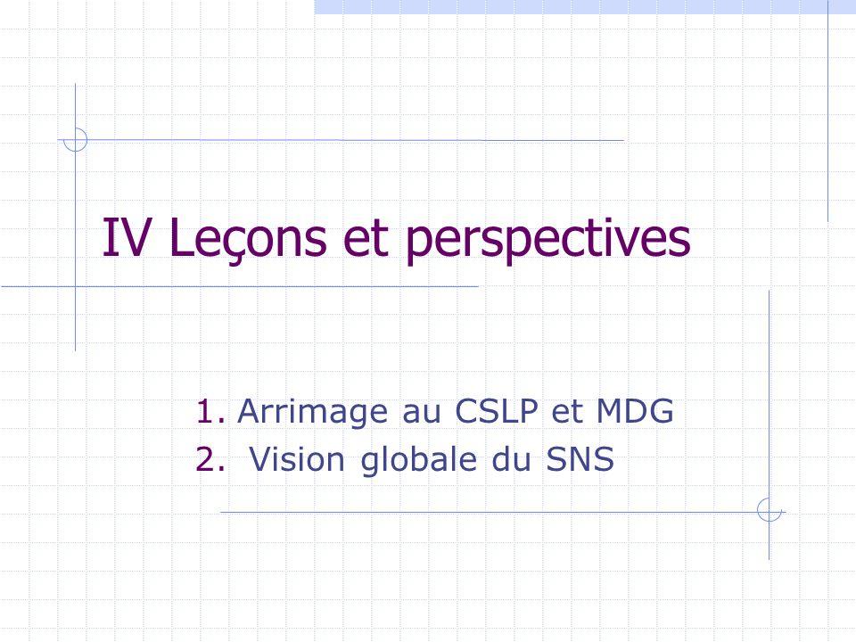 IV Leçons et perspectives