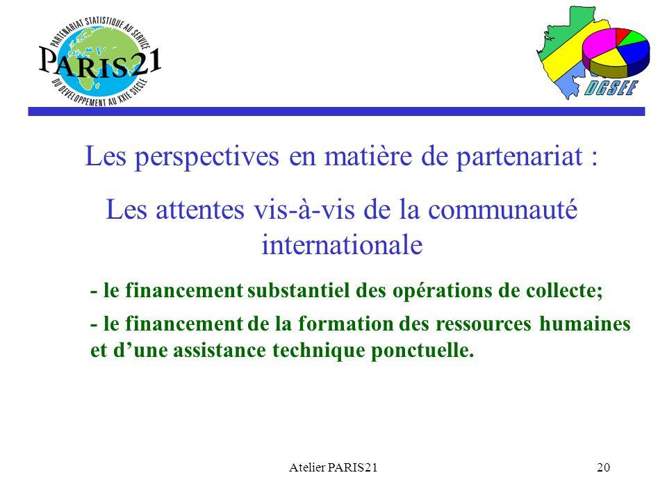 Les perspectives en matière de partenariat :