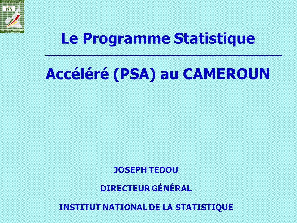 Le Programme Statistique Accéléré (PSA) au CAMEROUN