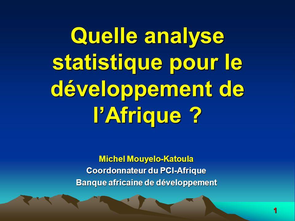 Quelle analyse statistique pour le développement de l'Afrique
