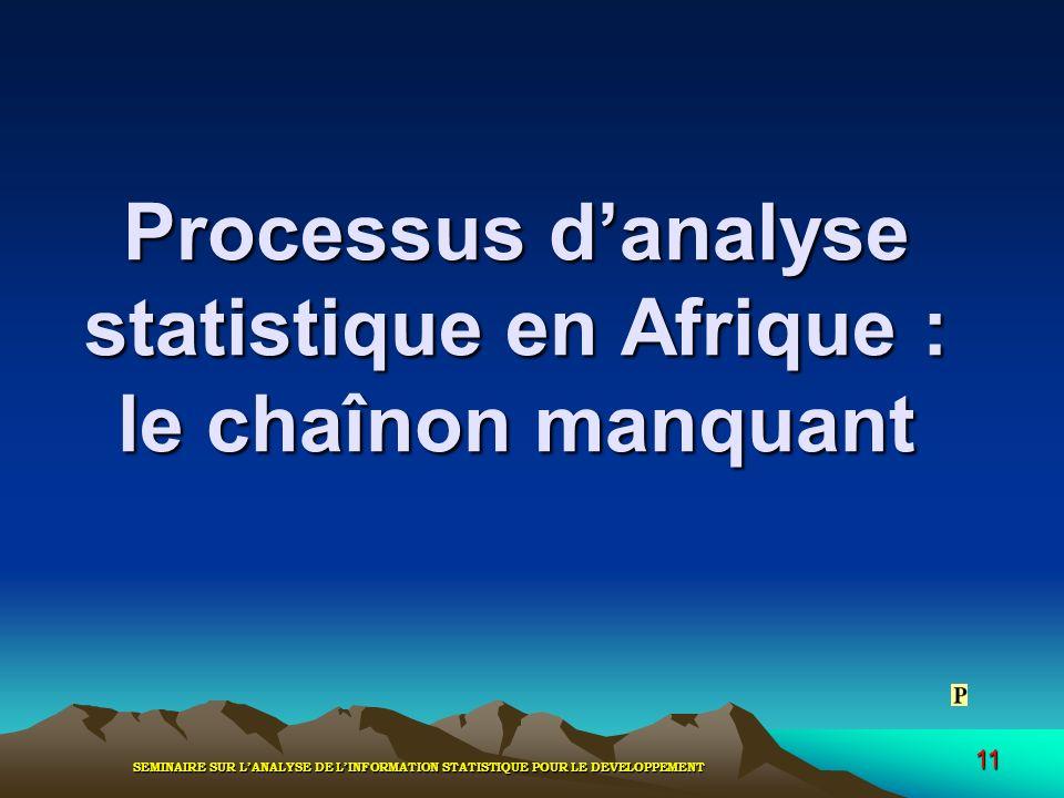 Processus d'analyse statistique en Afrique : le chaînon manquant