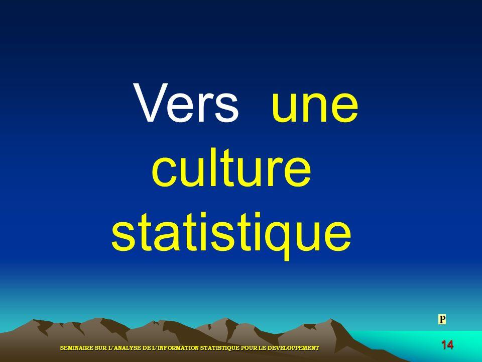 Vers une culture statistique