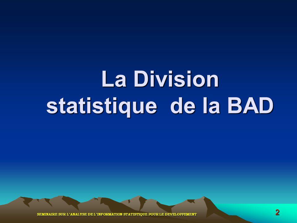 La Division statistique de la BAD