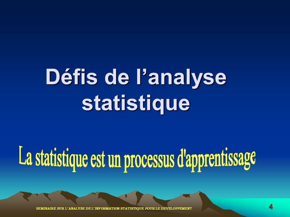 Défis de l'analyse statistique
