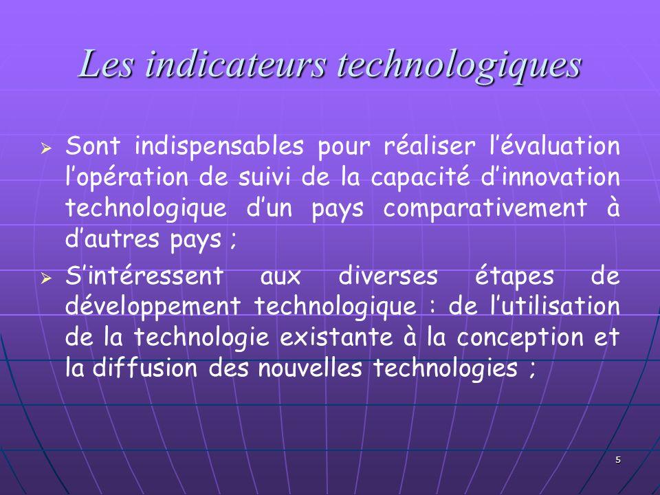 Les indicateurs technologiques