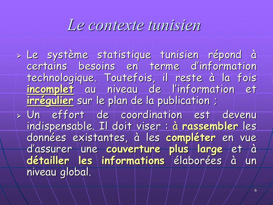 Le contexte tunisien