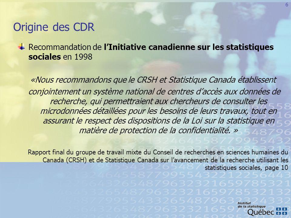 «Nous recommandons que le CRSH et Statistique Canada établissent