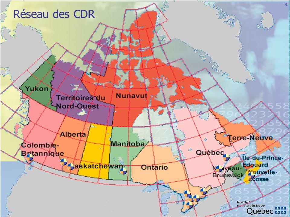 Réseau des CDR Valérie nous fera une carte du Canada la semaine prochaine.