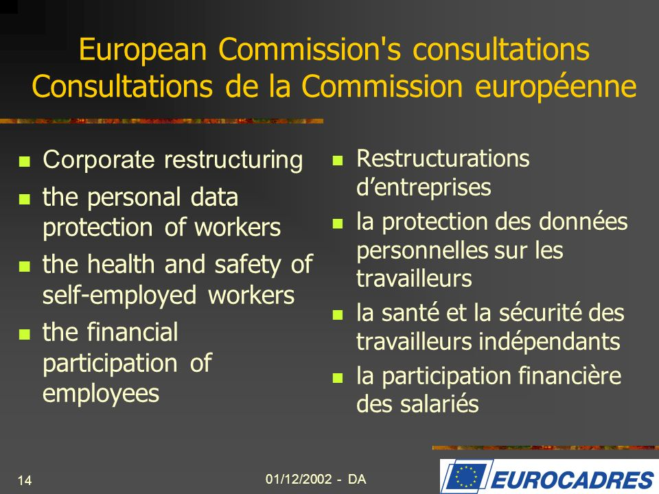 European Commission s consultations Consultations de la Commission européenne