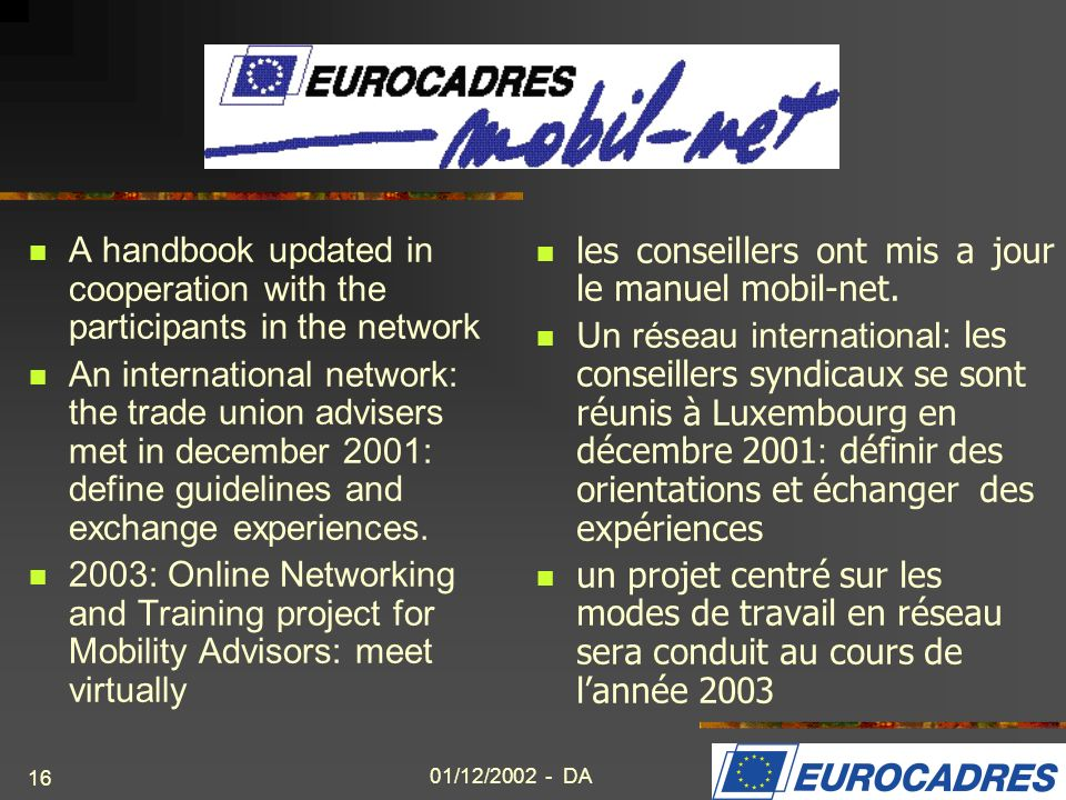 A handbook updated in cooperation with the participants in the network