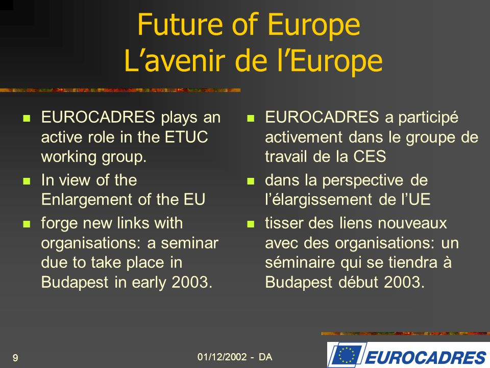 Future of Europe L'avenir de l'Europe