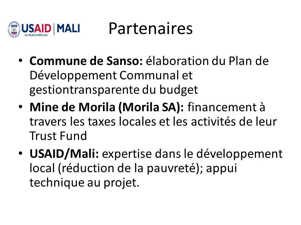 Partenaires Commune de Sanso: élaboration du Plan de Développement Communal et gestiontransparente du budget.