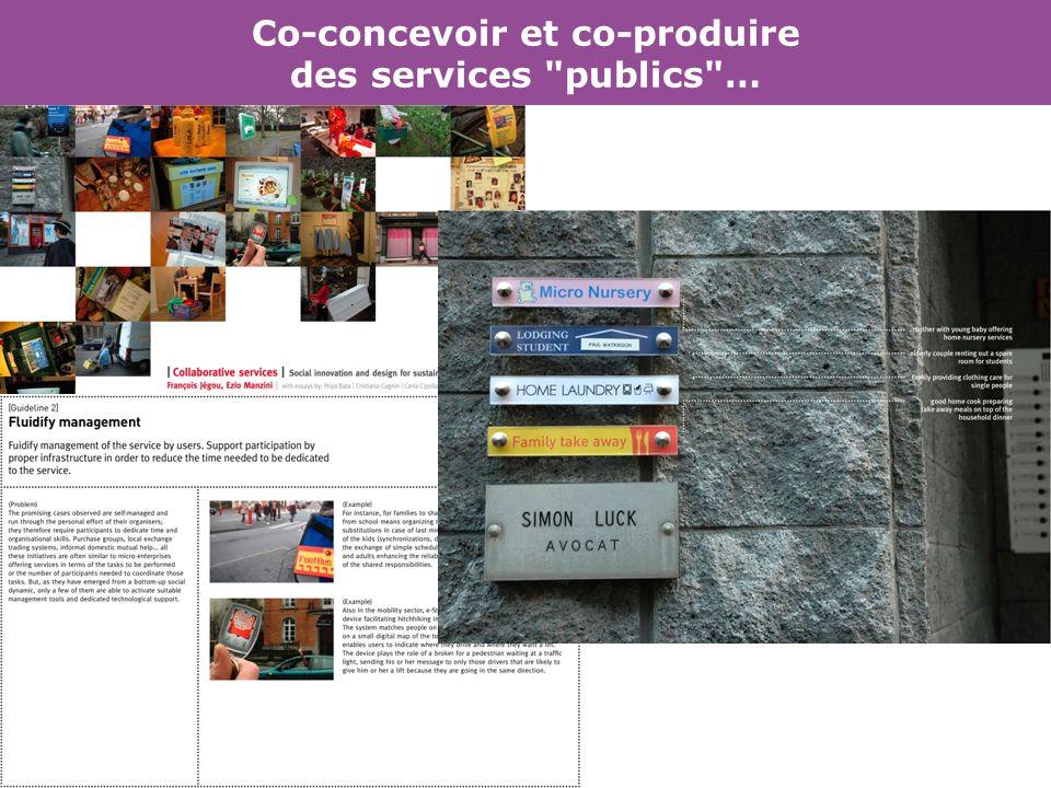 Co-concevoir et co-produire des services publics …
