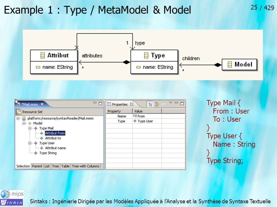 Example 1 : Type / MetaModel & Model