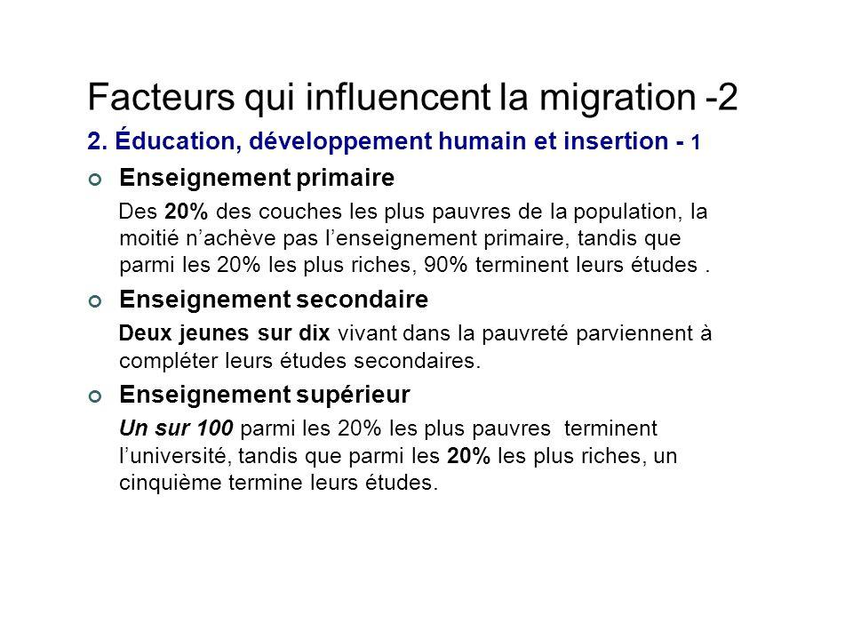 Facteurs qui influencent la migration -2